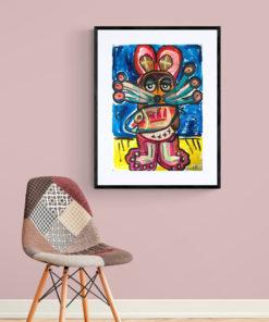 Kunstwerk Maus Pop Kunst online kaufen günstig und nachhaltig