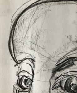 Kunst online kaufen der Ausschnitt einer Porträtzeichnung