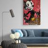 Kunst online kaufen Detailaufnahme des Kunstwerkes Felix Louis Vuitton
