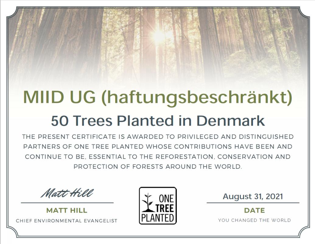 Wir haben dieses Jahr schon 50 Bäume pflanzen lassen