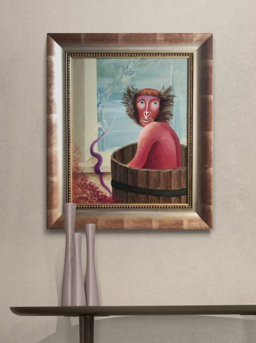 Kunst online kaufen ein Affe im Badezuber