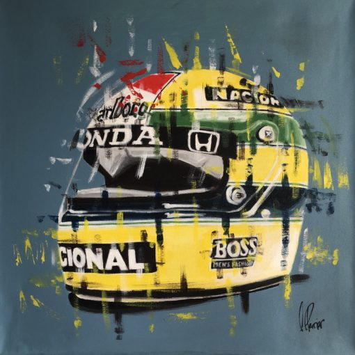 Kunstwerk Helm Ayerton Senna